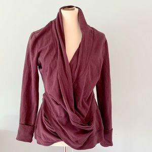 Karma Brand Purple Cross Wrap Yoga Sweatshirt L